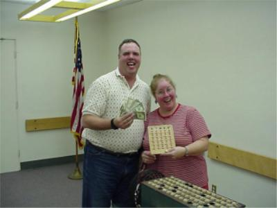 Member Mark Watson also won big...